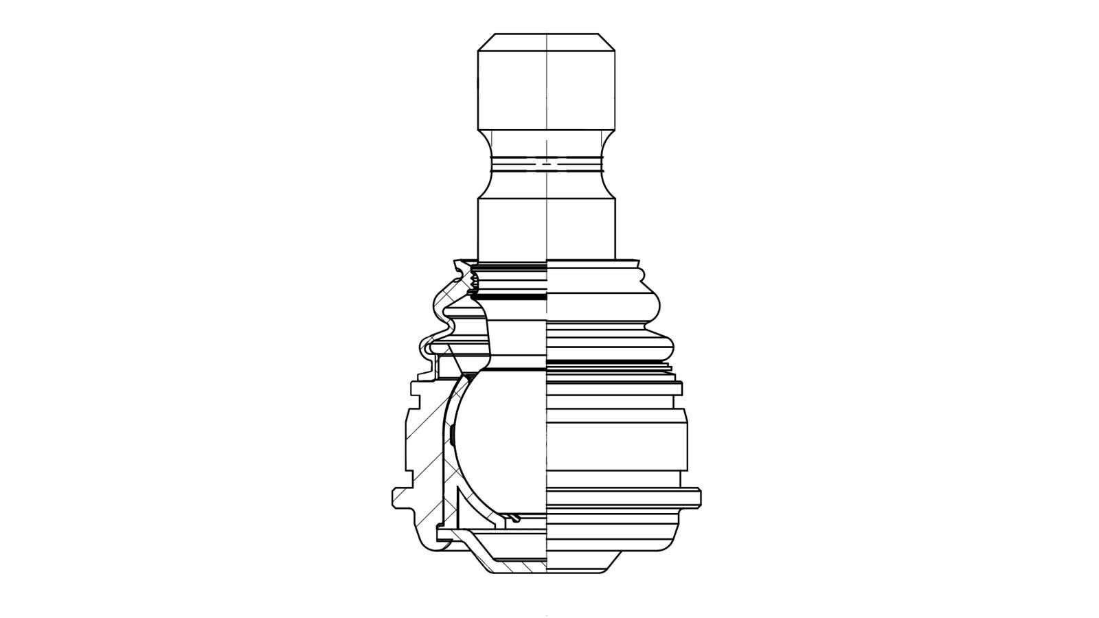 NA Website 2021 Sidem visual ridged ball joints technical drawing